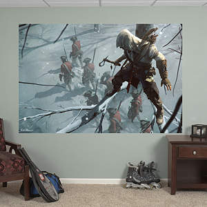 Sneak Attack Mural: Assassin's Creed III Fathead Wall Decal